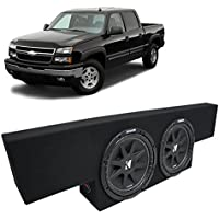 01-06 Chevy Silverado Non-HD Crew Truck Kicker Comp C12 Dual 12 Sub Box Enclosure - Final 2 Ohm