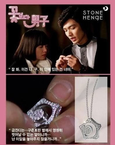 Korean Drama Boys Over Flowers Kissing Star Necklace