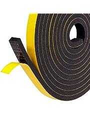 Fowong Zelfklevend type zelfklevende tape, gesloten cel huis raam deur diepgang excluder weerstrip afdichting, geluiddicht isolatiesysteem tape - geel