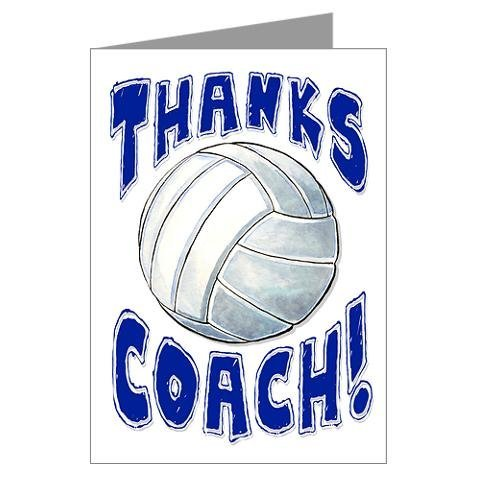 3-Pack Thanks Awesome Volleyball Coach! Sports POWERCARD Mid-Size (5x7) 3-Pack