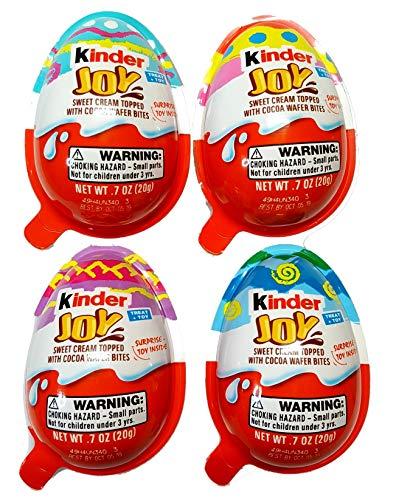 (Easter Kinder Joy Egg With Special Edition Easter Surprise Inside Pk of 4)