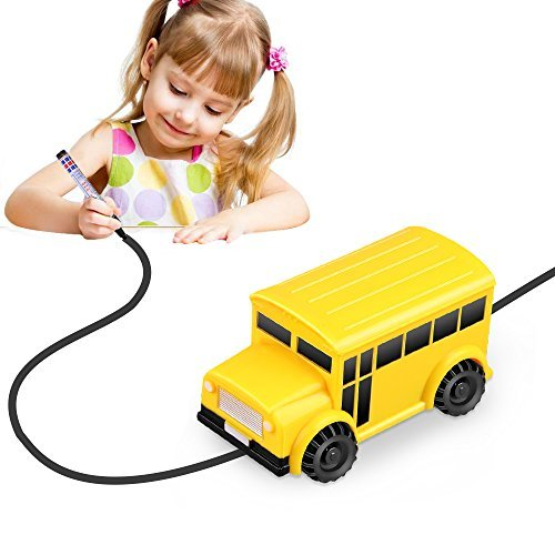YoCosii Inductive Truck Toy Cars, Magic Vehicles Follow the Black Line, Fun Toy for Boy & Girl Best Toddler Toys MINI Perfect Children Birthday Gift (school bus)