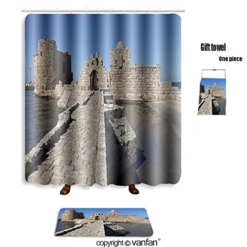 vanfan bath sets with Polyester rugs and shower curtain sidon saida lebanon february old city downtow shower curtains sets bathroom 40 x 72 inches&23.6 x 15.7 inches(Free 1 towel and - Of Prime Outlets Lebanon
