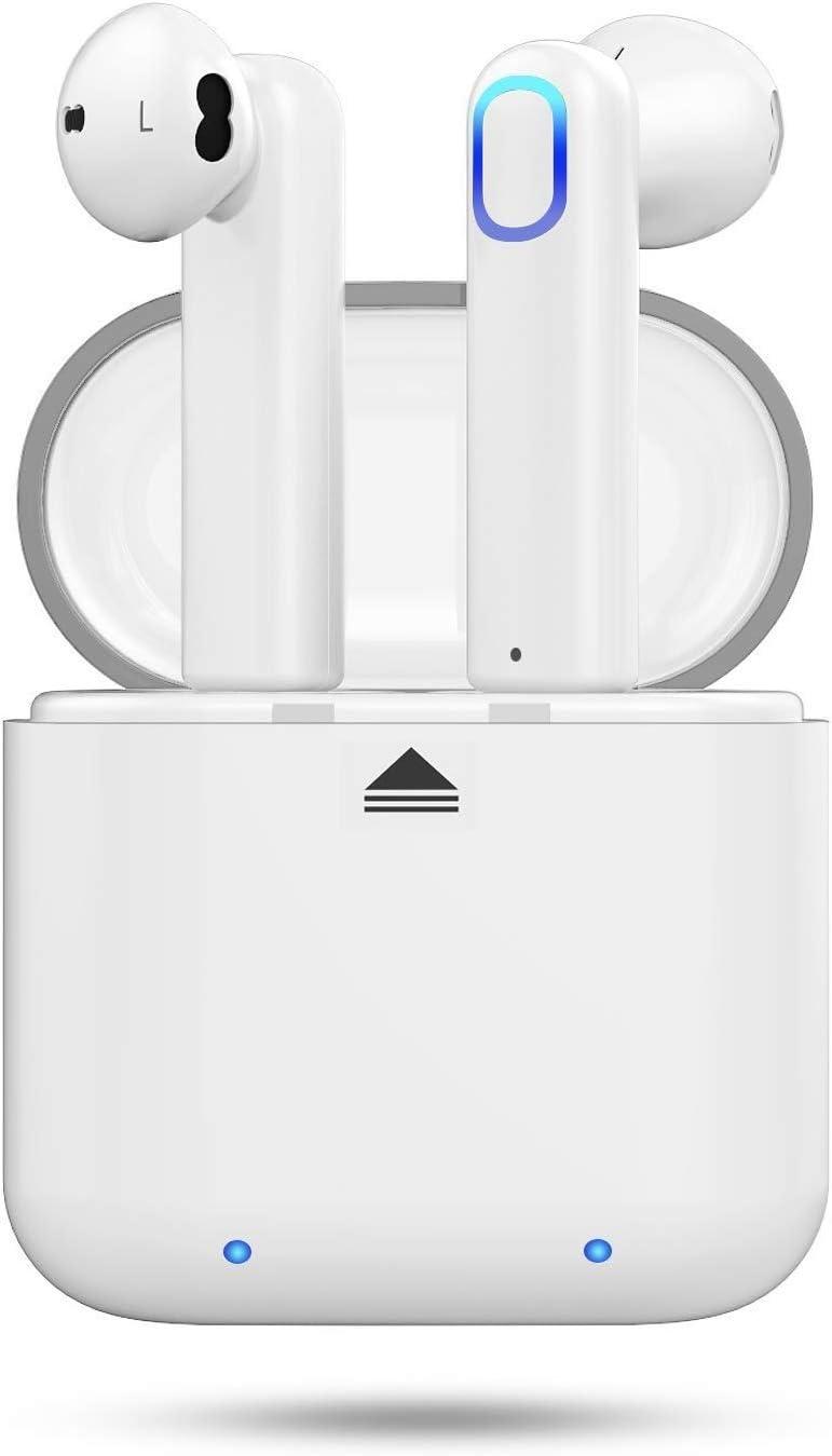 Auriculares inalámbricos Bluetooth Huyeta Auriculares verdaderamente inalámbricos con Auriculares de Sonido estéreo 3D Auriculares Deportivos inalámbricos para teléfonos Inteligentes Android iOS (1)