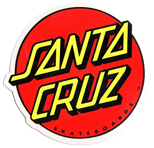 Santa Cruz Classic Logo Skateboard Sticker - large skate board skating skateboarding (Santa Cruz Stickers)