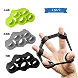 Ka June Finger Stretcher Finger Grip Trainer Hand Strengthener Extensor Exerciser Finger Resistance Bands for Finger Coordination Injury Rehabilitation Relax Set of 3 Level Resistance,100% Silicone Review