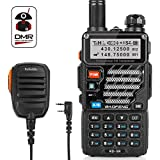 Radioddity x Baofeng RD-5R Dual Band Dual Time Slot DMR, 1024 Channels FM Radio Rechargeable Long Range Walkie Talkies Compact Ham Amateur Radio, Programming Cable + Remote Speaker