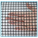 Kidkusion Heavy Duty Deck Guard, Black - 16' L x 3' H | Made in USA; Indoor/Outdoor Balcony and Stairway Deck Rail Safety Net; Child Safety; Pet Safety; Toy Safety