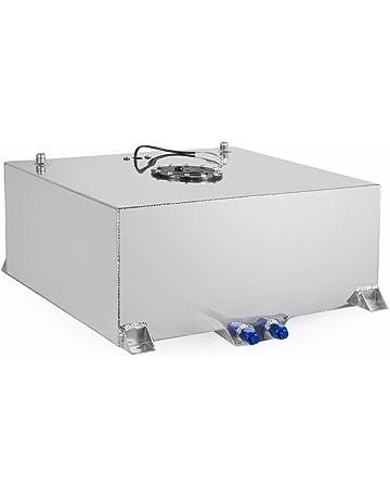 Stark Universal 20-Gallon Aluminum Fuel Cell Tank Hot Rod Lightweight Polished Fuel Diesel Racing
