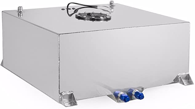 17-gallon aluminum fuel cell gas tank+level sender Hot Rod top-feed competition