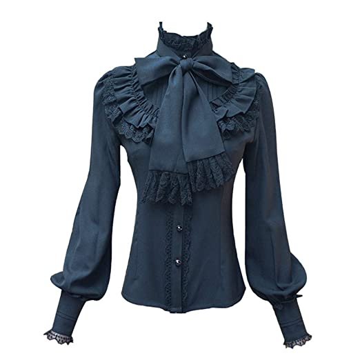 Amazon Com Smiling Angel Chiffon Ruffle Lace Bow Tie Vintage Gothic