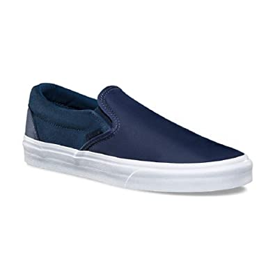 0d91701c54 Amazon.com | Vans Classic Slip On Surplus Nylon- Dress Blues M7 W8.5 ...
