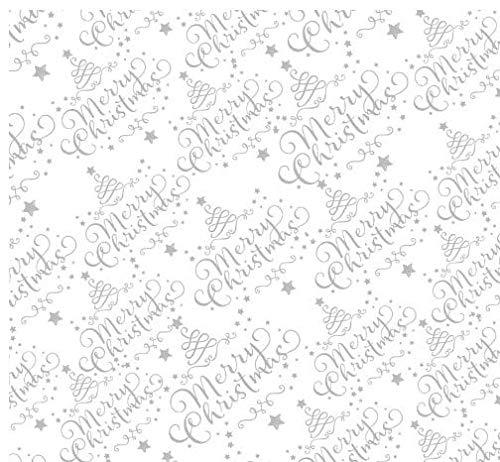 3m x 80cm cellophane Christmas White Script/qualità fiorista Script design tagliati su rullo grande e piegata per affrancatura Apac