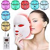 LED Fâcè Mâsk Light Therapy - 7 Color Skin Rejuvenation Therapy LED Photon Mâsk Light Facial Skin Care Anti Aging Skin…