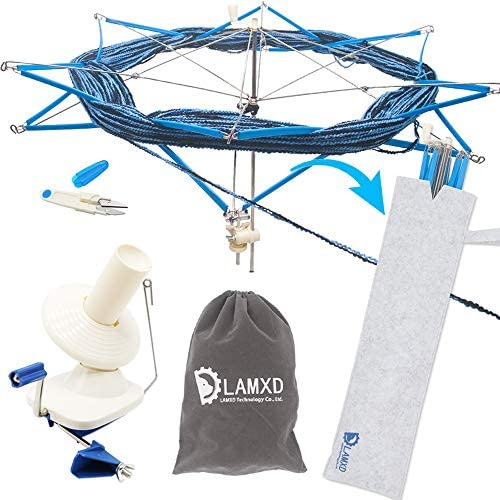 LAMXD Yarn Ball Winder and Yarn Umbrella Swift ¡­