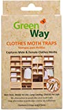 GreenWay Clothes Moth Traps (12 Pack - 24 Traps) | Pheromone Attractant, Ready to Use | Heavy Duty Glue, Safe, Non-Toxic with No Insecticides or Odor, Eco Friendly, Kid and Pet Safe