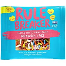 Rule Breaker Snacks, Birthday Cake, Healthy and Unbelievably Delicious, Vegan, Gluten Free, Nut Free, Free from Top Eight Allergens, Kosher (12ct pack)
