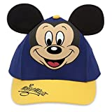 Disney Mickey Mouse Baseball Cap with Ears for Kids - Blue/Gold