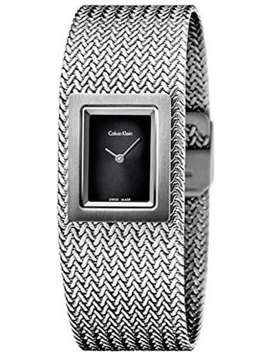 Calvin Klein Reloj Analógico para Mujer de Cuarzo con Correa en Acero Inoxidable K5L13131: Amazon.es: Relojes