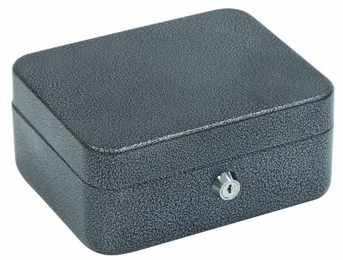 Hercules CB0806 Key Locking Cash Box and Key Cabinet with 4 Compartment Tray, 7.87