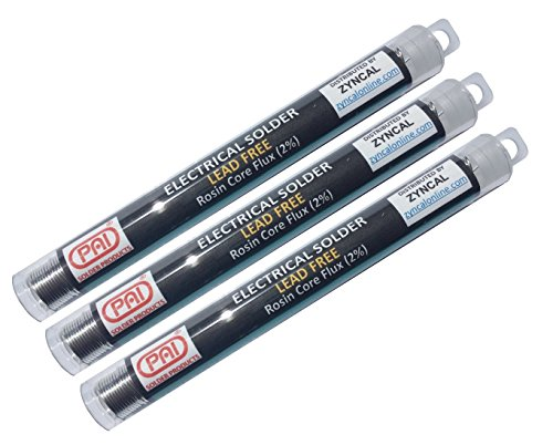 PAI 3-Pack Solder Lead Free, No Clean Rosin Flux, electrical electronics solder wire SAC305