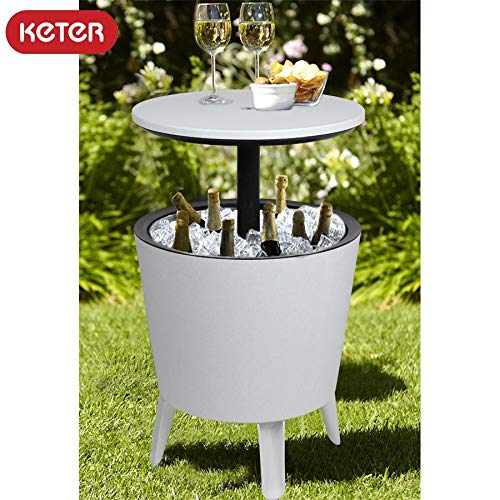 Keter Coolbar Mesa de pie, Nevera para cócteles, Blanco: Amazon.es ...