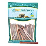 Best Bully Sticks 100% Natural 6-inch Thin Bully Sticks by (100 Pack)