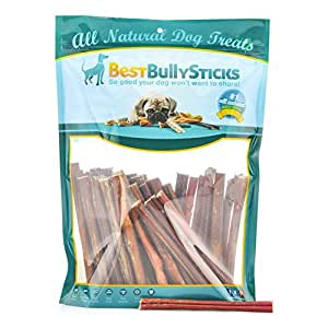 usa 6 inch thin bully sticks by best bully sticks 50 pack made in america pet. Black Bedroom Furniture Sets. Home Design Ideas