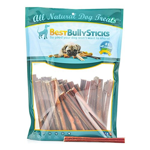 100% Natural 6-inch Thin Bully Sticks by Best Bully Sticks (100 Pack)