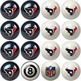 Imperial Officially Licensed NFL Home vs. Away Team Billiard/Pool Balls, Complete 16 Ball Set, Houston Texans
