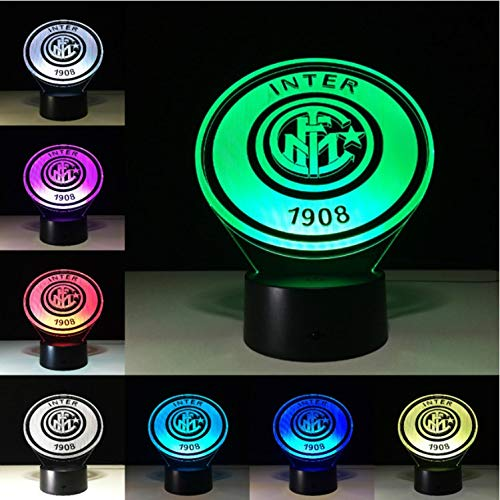 - KLSOO Inter Fc Fans Milan 3D Soccer Led Lamp Juventus Club 7 Colorful Football Night Lights Best Gifts for Kids Dad Friends