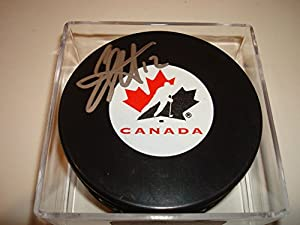 Eric Staal Signed Team Canada Hockey Puck Autographed Carolina Hurricanes - Authentic Autograph