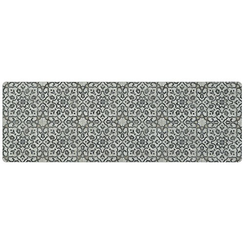 - Vinyl Floor Runner, Durable, Soft and Easy to Clean, Ideal for Kitchen Floor, Entryway or Hallway Floor Mat. Freestyle, Iron Filigree Pattern (2 ft x 6 ft)
