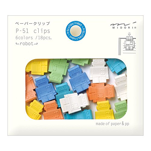 Midori Paper Clips, Robot, 18 Pieces (43322006)