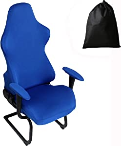 LJNGG Office Computer Game Chair Cover Armchair Gaming Chair Stretch Protector Slipcover Arm Rest Cover (Royal Blue)