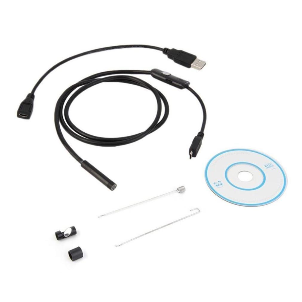 con 6 LED e cavo a serpente da 5,5 m BE-TOOL Lunghezza cavo: 1 impermeabile IP67 5 m 2 in 1 nero adattatore USB per dispositivi Android Phone Tablet Endoscopio USB da 5,5 mm