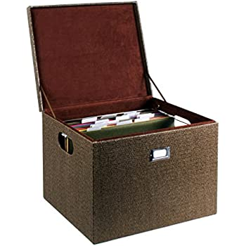Elegant G.U.S. Decorative Office File And Portable Storage Box For Hanging Folders  Letter Or Legal, Woven