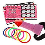 ATrigger Bachelorette Party Games Decorations Dick Heads& Dare Scratch Off Cards, Funny Adult Game Ring Toss Hen Night Party Girls Out Games