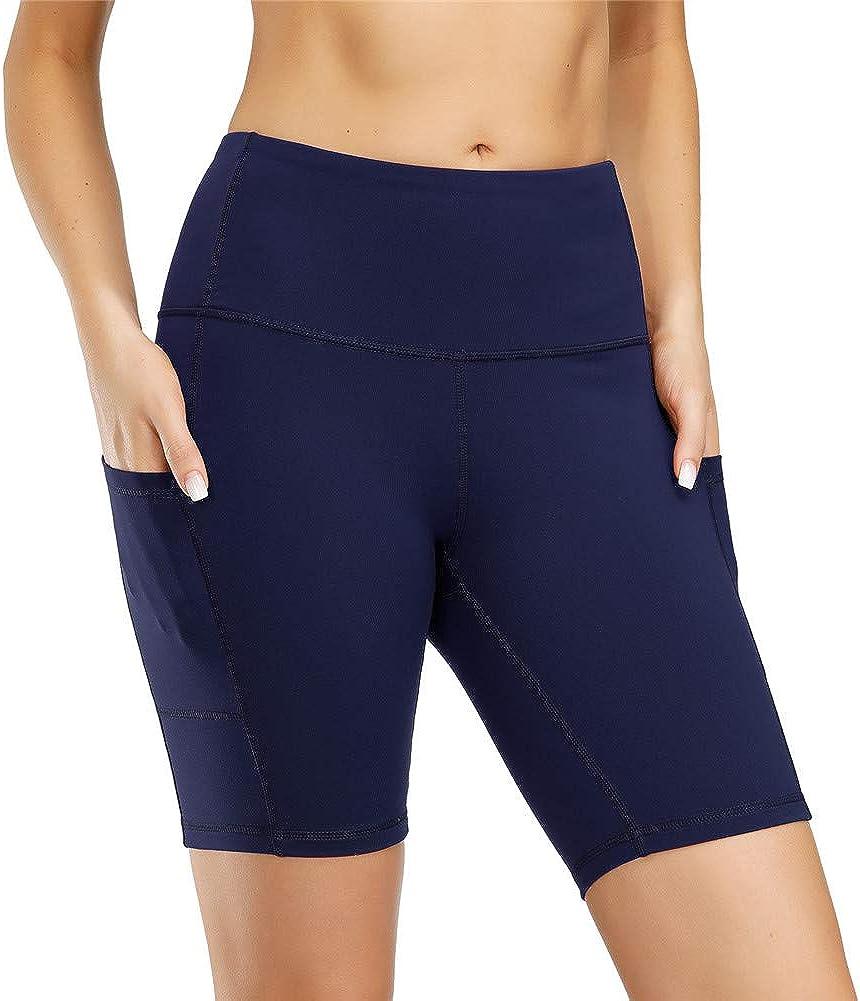 IceUnicorn Womens Yoga Pants High Waist Workout Running Shorts Tummy Control Stretch Soft Leggings with Side Pocket