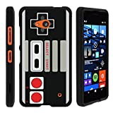MINITURTLE Case Compatible w/ Microsoft Lumia 640 Phone Case, Perfect Fit Cell Phone Case Hard Cover Cool Designs Game Controller
