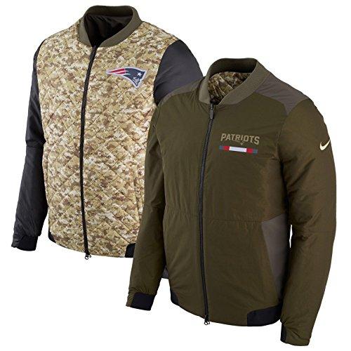 Nike Sideline Jacket (NIKE NFL Reversible Bomber Jacket, Salute to Service Sideline 2017 (2X-Large, New England Patriots))
