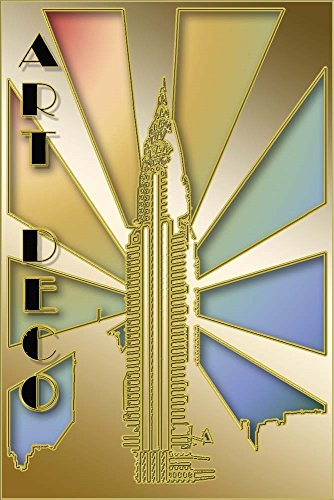Chrysler Building by Art Deco Designs Laminated Art Print, 9 x 14 inches
