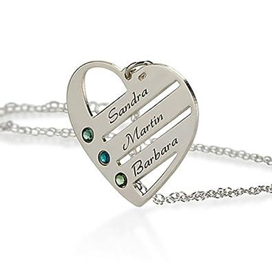 Silber Herz Anhänger mit Swarovski Kristall Halskette Mutter ...