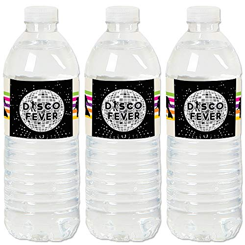 (70's Disco - 1970s Disco Fever Party Water Bottle Sticker Labels - Set of)