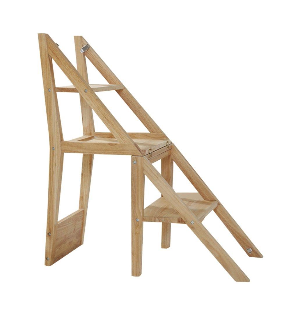 ノルディックウッド多機能ラダースツールCollapsible Stepladder/Stairway Chair(キッチン&ホーム用3段付) (色 : B) B07F63FBHH B