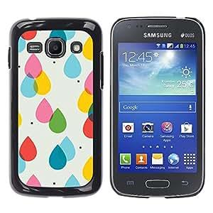 Caucho caso de Shell duro de la cubierta de accesorios de protección BY RAYDREAMMM - Samsung Galaxy Ace 3 GT-S7270 GT-S7275 GT-S7272 - Rain Pink Yellow Polka Dot Summer