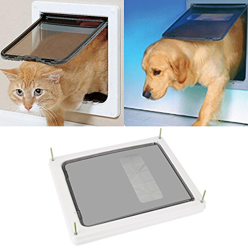 Homdox Plastic Pet Door with Telescoping Frame ...