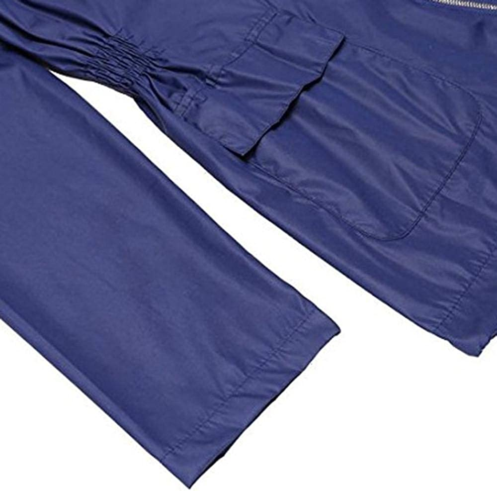 YBIRAL Damen Regenjacke Wasserdicht Atmungsaktiv Leichter Kapuzen Windbreaker Hoodie Kurze Faltbar /Übergangjacke Winddicht Windjacke