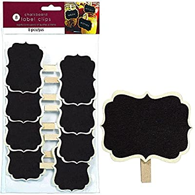 amscan 400084 Party Friendly Reusable Drink Labels (8 Pack), Black; 3 1/4: Toys & Games