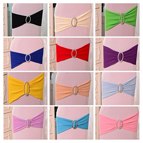 (Sashes - Chair Sash Bands Spandex 15x36cm Purple Stretch Lycra Cover Sashes Bow With Diamond Ring Decoration - Baby Spring Tiffany Stretch Tool Rose Table Tulle Bows Folding Bands Purple Green S)